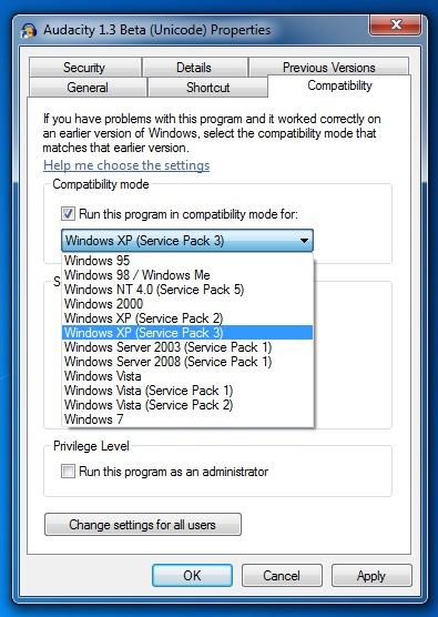 running windows 7 service pack 1